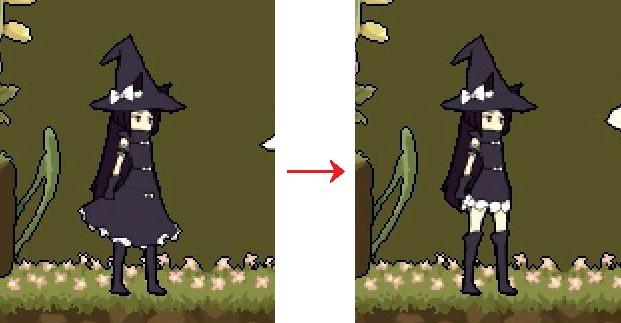 flowerwitch スカートの裾の変化